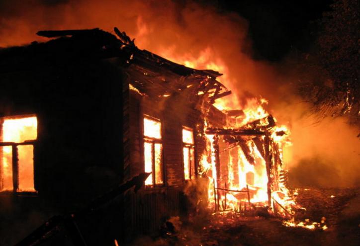 Напожаре вКасимовском районе найдены человеческие останки