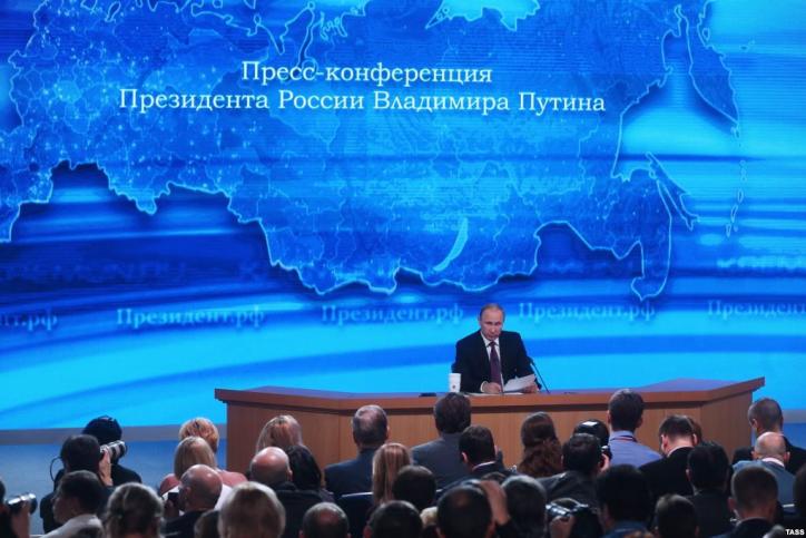 Большую пресс-конференцию Владимира Путина назначили на22декабря
